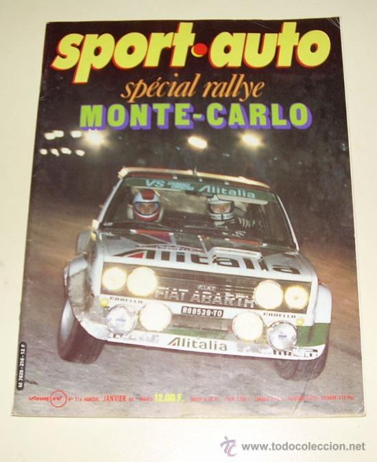 SPORT AUTO ( FRANCES ) Nº 216 ENERO 1960 SPECIAL MONTECARLO (Coches y Motocicletas Antiguas y Clásicas - Revistas de Coches)