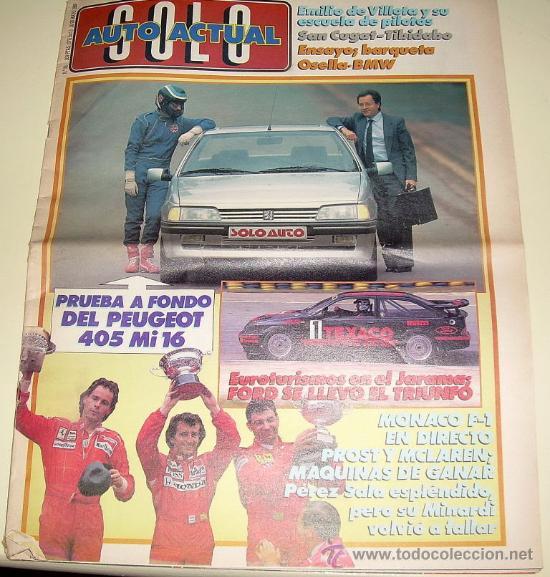 SOLO AUTO ACTUAL - Nº 23 - MAYO 1988 - (GRAN FORMATO TAMAÑO PERIÓDICO) (Coches y Motocicletas Antiguas y Clásicas - Revistas de Coches)