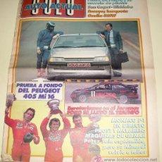 Coches: SOLO AUTO ACTUAL - Nº 23 - MAYO 1988 - (GRAN FORMATO TAMAÑO PERIÓDICO) . Lote 26786235
