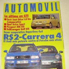 Coches: AUTOMOVIL 206 MARZO 1995. Lote 27078989