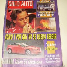 Coches: SOLO AUTO ACTUAL Nº 56 MAYO 89. Lote 25978219