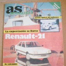 Coches: AS MOTOR 1986, ENTREVISTA A ANGEL NIETO . Lote 25537115