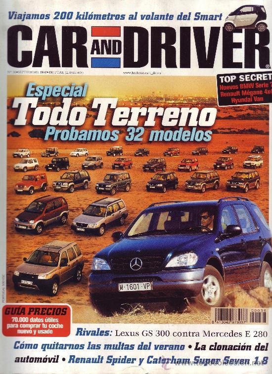 REVISTA CAR AND DRIVER - NÚMERO 36. / ESPECIAL TODO TERRENO (Coches y Motocicletas Antiguas y Clásicas - Revistas de Coches)