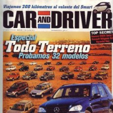 Coches: REVISTA CAR AND DRIVER - NÚMERO 36. / ESPECIAL TODO TERRENO. Lote 22669344