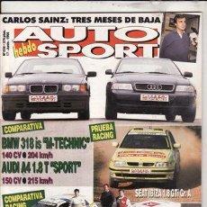 Coches: REVISTA AUTO HEBDO SPORT Nº 518 AÑO 1995. COMPARATIVA: AUDI A4 1.8T SPORT Y BMW 318IS M TECHNIC.. Lote 37563499