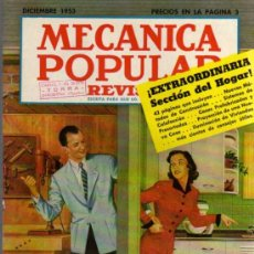 Coches: REVISTA MECÁNICA POPULAR - DICIEMBRE 1953. Lote 26470294