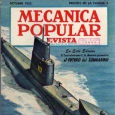 Coches: REVISTA MECÁNICA POPULAR - OCTUBRE 1953. Lote 26421207