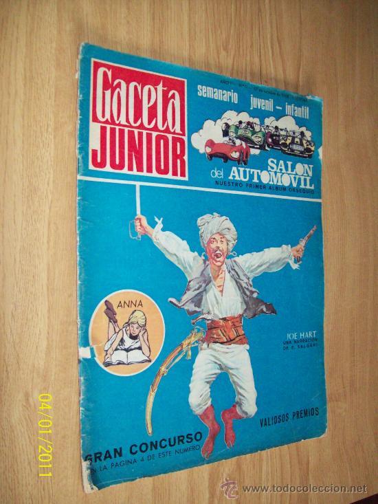GACETA JUNIOR Nº 1 OCT.'68 -CON EL ALBUM ( VACIO ) DEL SALON AUTOMOVIL (Coches y Motocicletas Antiguas y Clásicas - Revistas de Coches)