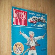 Coches: GACETA JUNIOR Nº 1 OCT.'68 -CON EL ALBUM ( VACIO ) DEL SALON AUTOMOVIL. Lote 26073253