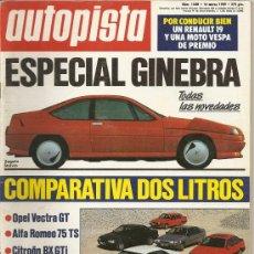 Coches: AUTOPISTA NUM1548-MARZO 1989. Lote 24055434