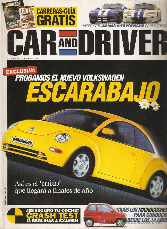 CAR AND DRIVER NUM29 FEBRERO 1998 (Coches y Motocicletas Antiguas y Clásicas - Revistas de Coches)