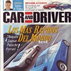 Coches: REVISTA CAR & DRIVER; Nº 1. OCTUBRE DE 1995: TEST BUGATTI, JAGUAR, PORSCHE, FERRARI, . Lote 24159708