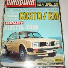 Coches: AUTOPISTA 941 - DE 1977. Lote 27245236