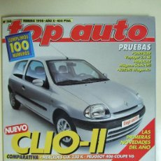 Coches: REVISTA TOP AUTO - Nº 100 - FEBRERO DE 1998 - RENAULT CLIO. Lote 26391711
