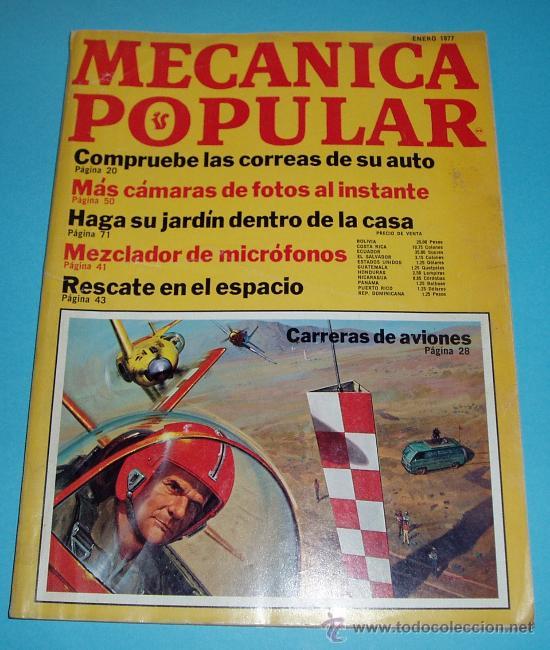 REVISTA MECÁNICA POPULAR- ENERO 1977 (Coches y Motocicletas Antiguas y Clásicas - Revistas de Coches)
