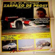 Coches: SOLO AUTO ACTUAL 39 DE 1988 ( GRAN FORMATO TAMAÑO PERIÓDICO,). Lote 26265272