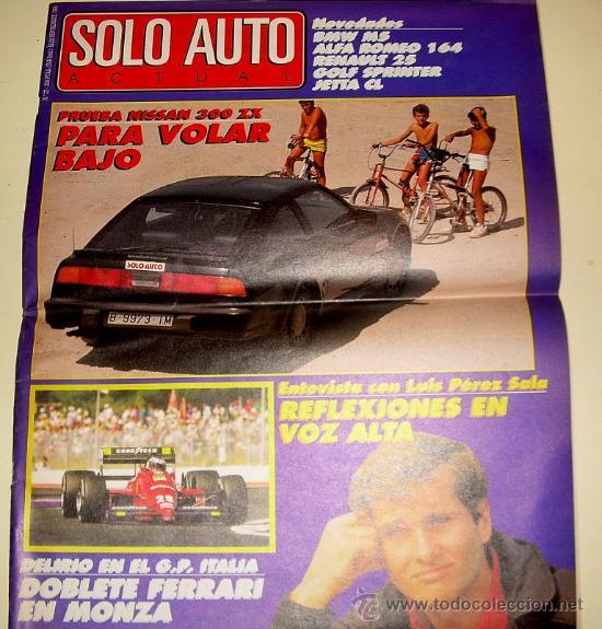 SOLO AUTO ACTUAL 37 DE 1988 ( GRAN FORMATO TAMAÑO PERIÓDICO,) (Coches y Motocicletas Antiguas y Clásicas - Revistas de Coches)