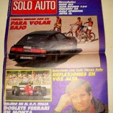 Coches: SOLO AUTO ACTUAL 37 DE 1988 ( GRAN FORMATO TAMAÑO PERIÓDICO,). Lote 26259181