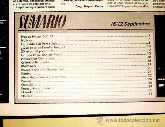 Coches: Solo Auto Actual 37 de 1988 ( Gran formato tamaño periódico,) - Foto 2 - 26259181