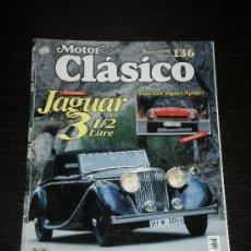 Coches: MOTOR CLASICO Nº 136 - FIAT 124 SPORT SPIDER / JAGUAR 3 1/2 / ROVER P4 / LANCIA DELTA INTEGRALE. Lote 54803975