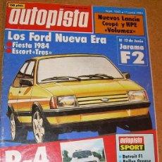 Coches: AUTOPISTA - Nº 1247 - 1983. Lote 26554933