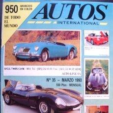 Coches: REVISTA AUTOS INTERNACIONAL Nº 35 DE MARZO DE 1993, 74 PÁGINAS Y MÁS DE 950 FOTOGRAFIAS DE COCHES. Lote 27087038