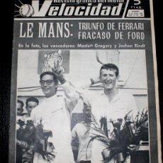 Coches: ANTIGUA REVISTA DEL MOTOR VELOCIDAD - 26 JUNIO 1965 - Nº 198 - LE MANS , BMW 2000 CS , DAUPHINE COUP. Lote 25683900