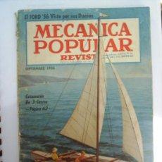 Coches: REVISTA MECANICA POPULAR SEPTIEMBRE 1956. Lote 25927643