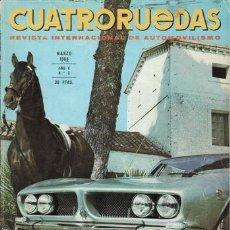 Coches: REVISTA CUATRORUEDAS Nº 3 AÑO 1968. PRUEBA: SIMCA 1100 GLS. PRUEBA: PORSCHE 911 SPORTONATIC.. Lote 25956576