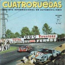 Coches: REVISTA CUATRORUEDAS Nº 11 AÑO 1968. . Lote 25956619