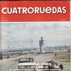 Coches: REVISTA CUATRORUEDAS Nº 7 AÑO 1973. . Lote 25956720