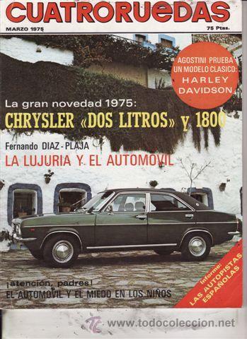REVISTA CUATRORUEDAS Nº 3 AÑO 1975. PRUEBA: HARLEY DAVIDSON SPORTSTER XL 1000. (Coches y Motocicletas Antiguas y Clásicas - Revistas de Coches)