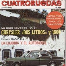 Coches: REVISTA CUATRORUEDAS Nº 3 AÑO 1975. PRUEBA: HARLEY DAVIDSON SPORTSTER XL 1000. . Lote 25956750