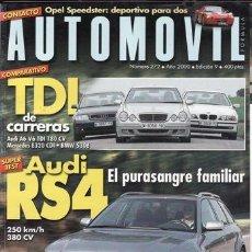 Coches: REVISTA AUTOMOVIL Nº 272 AÑO 2000. PRUEBA: ALFA 156 V6 SPORTWAGON. MITSUBISHI MONTERO DI-D.. Lote 26373808