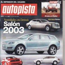 Coches: REVISTA AUTOPISTA Nº 2269 AÑO 2003. PRUEBA: MERCEDES ML 270 CDI.. Lote 27150588