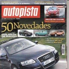 Coches: REVISTA AUTOPISTA Nº 2340 AÑO 2004. PRUEBA: MERCEDES SLK 200. COMPARATIVAS: RENAULT MÉGANE SPORT. Lote 27340406