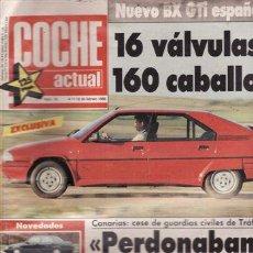 Coches: REVISTA COCHE ACTUAL Nº 19 AÑO 1988. PRUEBA: CITROEN BX GTI 16V. COMPARATIVA: FORD FIESTA CTX-INNOCE. Lote 27709667