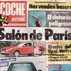 Coches: REVISTA COCHE ACTUAL Nº 35 AÑO 1988. PRUEBA. FIAT UNO 45 S FIRE. COMPARATIVA: OPEL VECTRA GL. FORD S. Lote 27720729