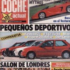 Coches: REVISTA COCHE ACTUAL Nº 80 AÑO 1989. PRUEBA: FORD FIESTA XR2 I. MAZDA 323 F. COMPARATIVA: RENAULT 5 . Lote 27721539
