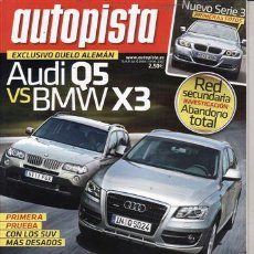 Coches: REVISTA AUTOPISTA Nº 2557 AÑO 2008. PRU: LAGUNA 2.0 DCI GT. JAGUAR XF 2.0D V6. COMP: BMW X3 3.0 SD.. Lote 27856767