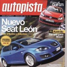 Coches: REVISTA AUTOPISTA Nº 2594 AÑO 2009. . Lote 27868750