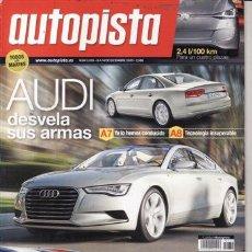 Coches: REVISTA AUTOPISTA Nº 2630 AÑO 2009. PRUEBA: BMW 530D GT. . Lote 27869979
