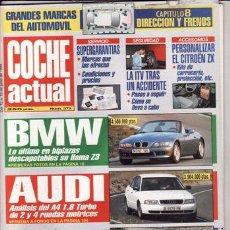 Coches: REVISTA COCHE ACTUAL Nº 373 AÑO 1995. PRUEBA: VW GOLF ROLLING STONES. FIAT CINQUECENTO SIENA.. Lote 28101990