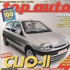Coches: REVISTA TOP AUTO Nº 100 AÑO 1998. PRU: SUZUKI WAGON R+. CHRYSLER VOYAGER 2.4 SE. RENAULT SCÉNIC DTI.. Lote 28214349