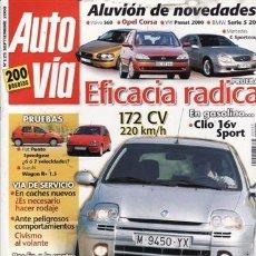 Carros: REVISTA AUTO VÍA Nº 125 AÑO 2000. PRUEBA: RENAULT CLIO 2.0 16V SPORT. SKODA FABIA TDI. SUZUKI WAGON . Lote 28221068