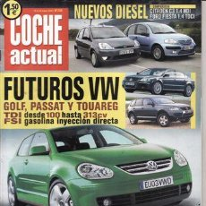 Coches: REVISTA COCHE ACTUAL Nº 735 AÑO 2002. COMPARATIVA: CITROEN C3 1.4 HDI SX PLUS Y FORD FIESTA 1.4 TDCI. Lote 28271476