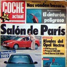 Coches: COCHE ACTUAL Nº 35 SEP 1988, SALON DE PARIS, AX DIESEL, OPEL VECTRA, PASSAT, 405 SRI, SIERRA, UNO. Lote 28394856