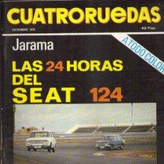 Coches: CUATRORUEDAS 1970: SEAT 124; BSH; PORSCHE 914; LEOPARD; JORGE DE BRAGATION; ETC.... Lote 33215770