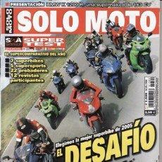 Coches: REVISTA SOLO MOTO ACTUAL Nº 1509 AÑO 2005. PRUEBA: BMW K 1200 R. . Lote 28520201