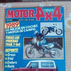 Coches: MOTOR VERDE 4X4 ESPECIAL PRUEBAS 1989 -TODAS LAS PRUEBAS TRAIL Y 4X4 -. Lote 28828423